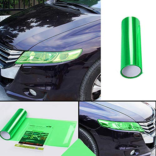(30120cm Car Headlight Light Fog Lamp Protect Film Vinyl Wrap Overlays Sheet Car Decoration Autocollant De Voiture Green)