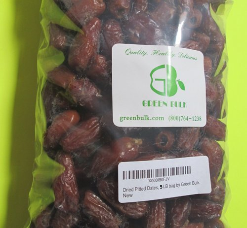 Dried Pitted Dates-Whole, from Green Bulk (5 lb) (Fruit Date)