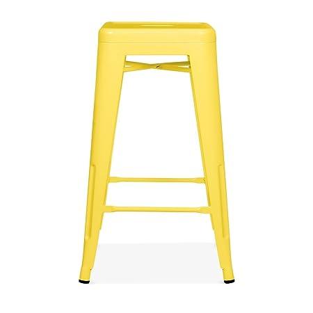 xavier pauchard tolix stool yellow 65cm 65cm amazon co uk