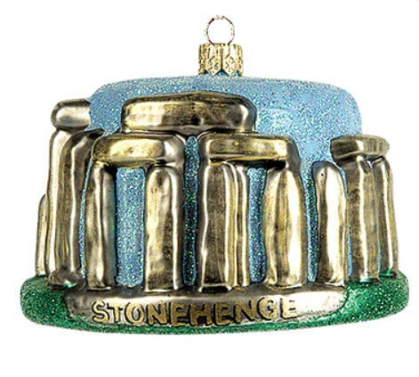 (Stonehenge England Landmark Polish Glass Christmas Ornament Travel Souvenir Decoration 181)