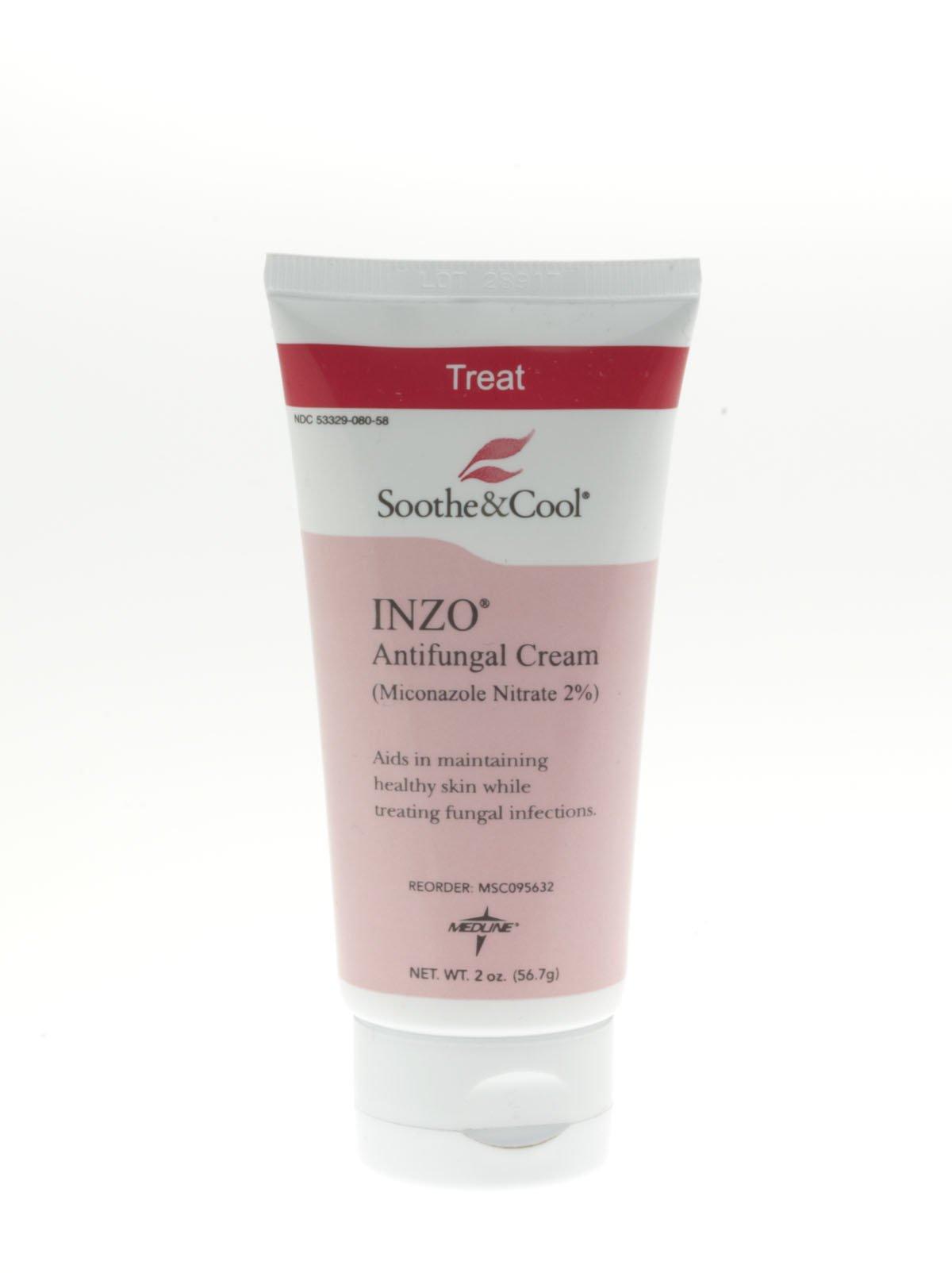 Medline Soothe & Cool INZO Antifungal Cream - INZO Antifungal Cream, 5 oz Tube - Qty of 12