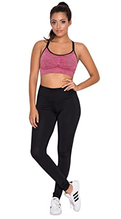 835797671c0cd Yandy Women Athletic High Waist Basic Cardio Skinny Leggings Black Small