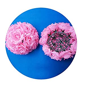 Sevem-D New 4Pcs 20Cm Wedding Flowers Ball Table Centerpiece Decoration Artificial Silk Rose Pomander Wedding Flowers 75