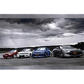 Nissan GTR R32 R34 R35 Nissan Silvia Car Poster 20x30