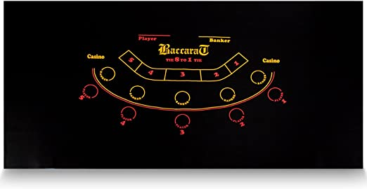 """72/"""" x 36/"""" Black Baccarat Casino Table Felt Layout by Brybelly"""