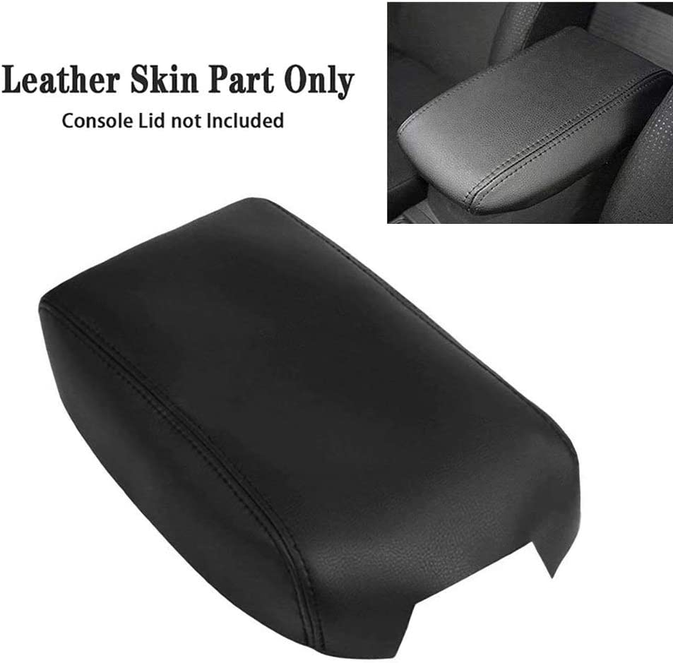 X AUTOHAUX Armrest Cover Pad Microfiber Leather Center Console Cover Replacement Gray for Toyota Camry 2012-2017