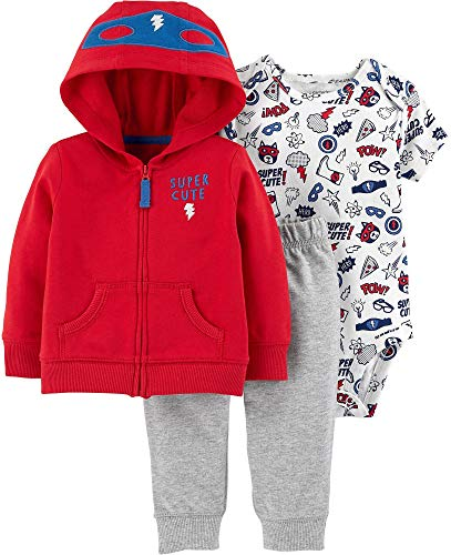 Carter's Baby Boys` 3-Piece Little Jacket Set (12 Months, Super Cute Hero)]()