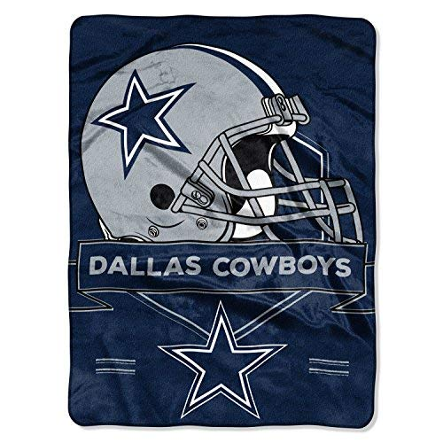 "NFL Dallas Cowboys ""Prestige"" Raschel Throw Blanket, 60"" x 80"""