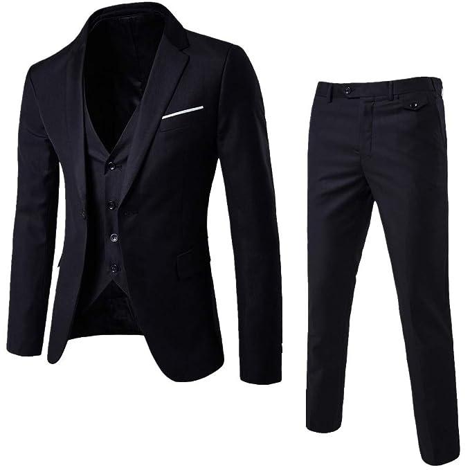 Amazon.com: Conjunto de chaleco y pantalones para hombre ...