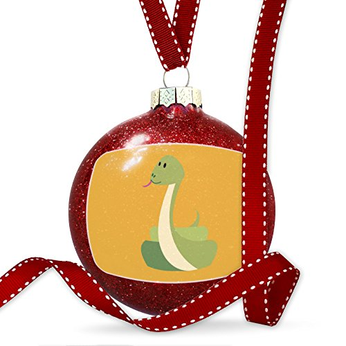 Christmas Decoration Cute Animals for Kids Snake Ornament by NEONBLOND
