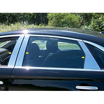 TYGER For 2013-2019 Cadillac XTS 4PC Stainless Steel Chrome Pillar Post Trim