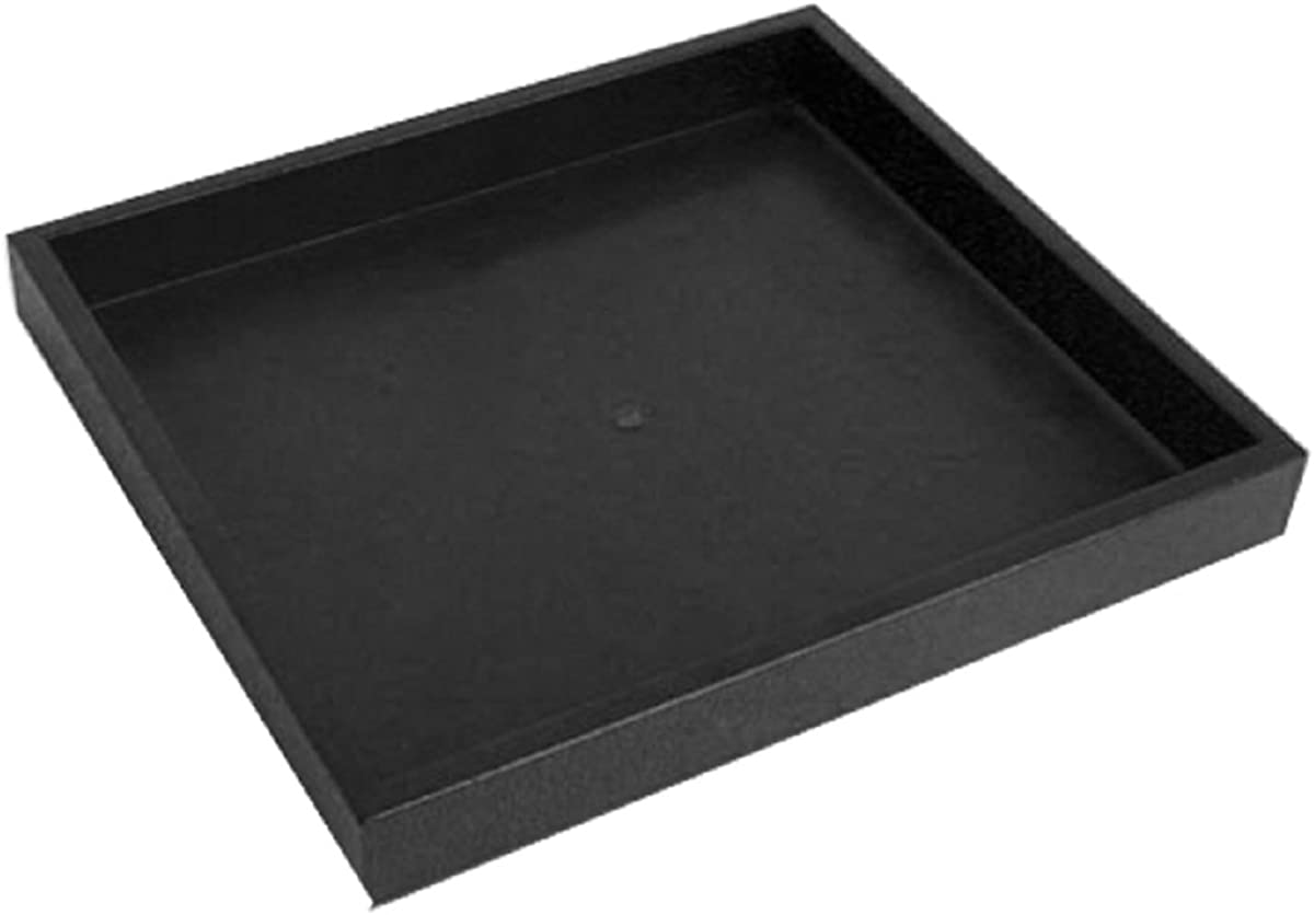Half Size Black Stackable Plastic Tray 1""