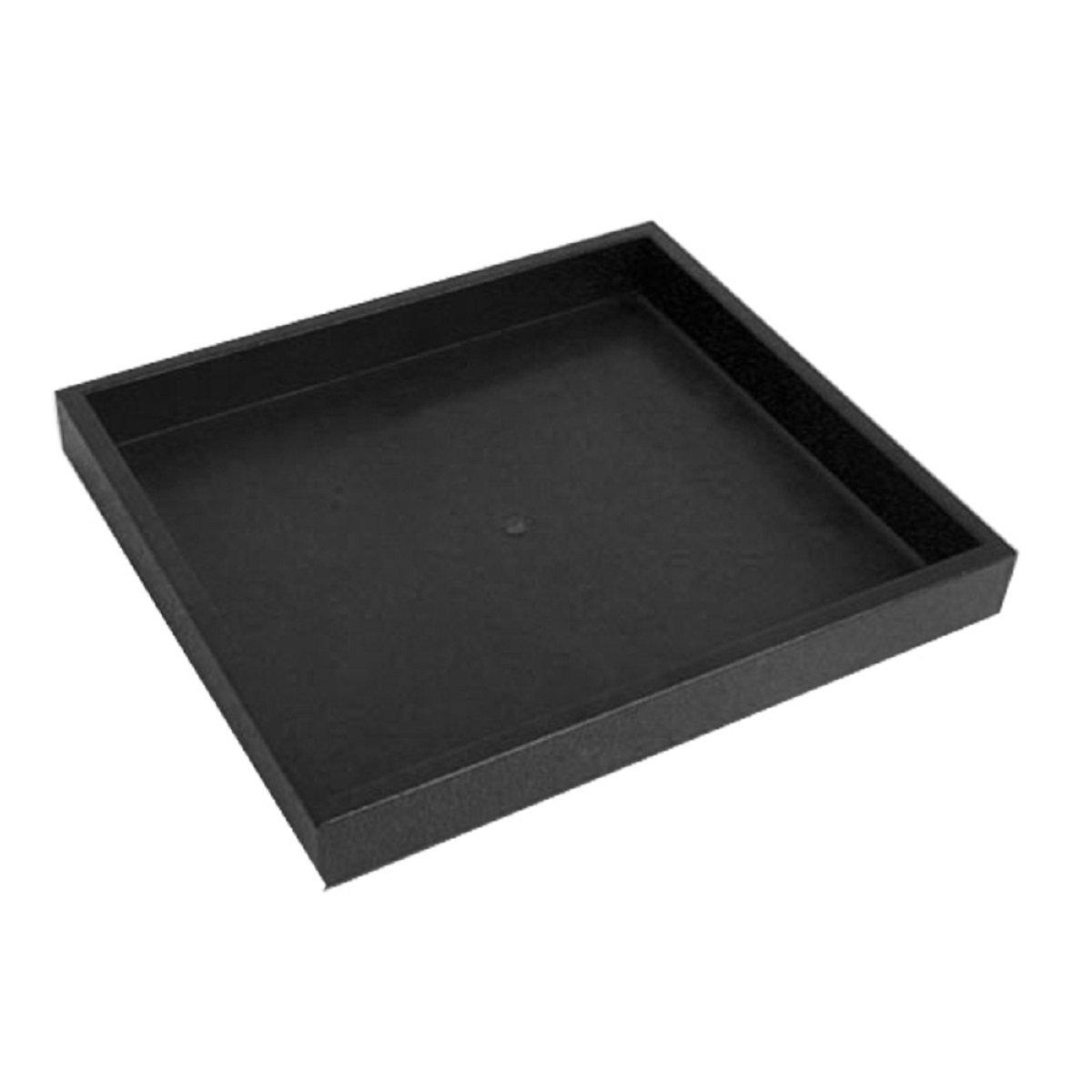 Half Size Black Stackable Plastic Tray 1