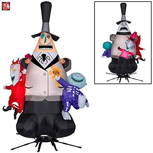 Gemmy 7 1/2 Airblown Animated Inflatable Rotating Mayor of Halloweentown Nightmare Before Christmas Yard Decoration 223238