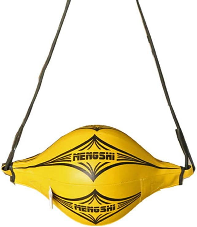 AINAAN Boxing Speed Ball Hanging Type Tumbler Sandbag Double End MMA for Training Gym Exercise Agility (Yellow)