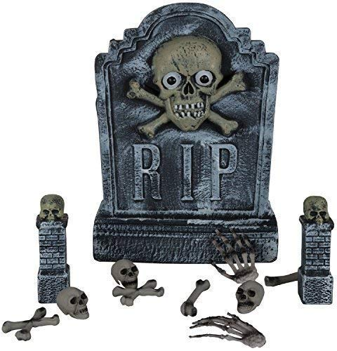 Grave Digger Tomb Stone Cemetery Rising Dead Zombie Scary Halloween Horror Party Funny Prank Fancy Dress Costume Outfit Decoration Prop ()