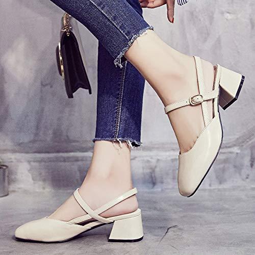 KPHY-Baotou Sandalen Mädchen Studenten Damenschuhe Square - Heels Einzelne Schuhe Schuhe Schuhe 5Cm f31b0a