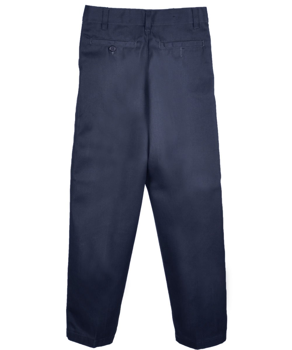 Genuine School Uniform Boys Twill Pant (More Styles Available), Basic Navy, 18