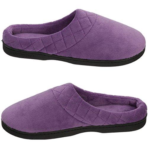 Dearfoams Clog Microfiber Purple Smokey Women's BwUHqBn1x