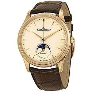 Best Epic Trends 51wWTTHOU1L._SS300_ Jaeger LeCoultre Master Ultra Thin Moonphase Ivory Dial Leather Mens Watch Q1362520