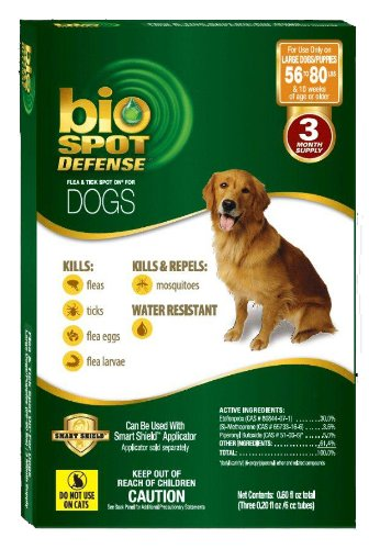 Bio Spot Defense Dog (BioSpot Defense Flea and Tick Spot with Smart Shield Applicator Refill for Dogs 56 to)