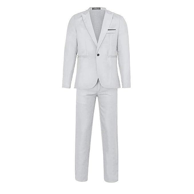 BOBOLover Traje Suit Hombre Blazer de Negocios Traje al ...