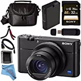 Sony Cyber-shot DSC-RX100 V DSCRX100 MARK 5 Digital Camera + Rechargable Li-Ion Battery + Sony 32GB SDHC Card + Case + Tripod + HDMI Cable + Memory Card Wallet + Card Reader + Fibercloth Bundle