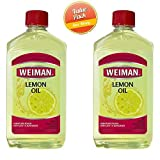 Weiman Lemon Oil with Sunscreen, 16 fl. oz. (Pack of 2)