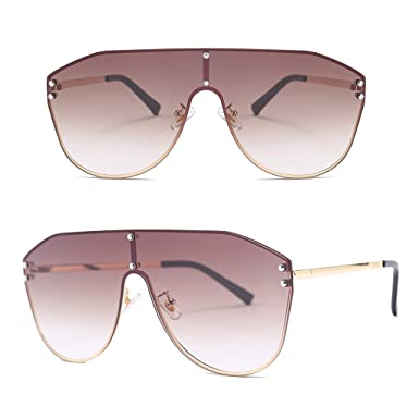 Amazon.com: Peuriy - Gafas de sol de una sola pieza con ...