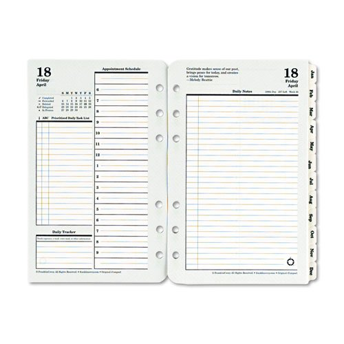 Franklin Covey 35414 Original Dated Daily Planner Refill, January-December, 4 1/4 X 6 3/4, 2017 (Compact Size)