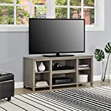 Mainstay Parsons Cubby TV Stand Holds Up to 50' TV - Black Oak (Oak Finish (TV Stand ONLY))