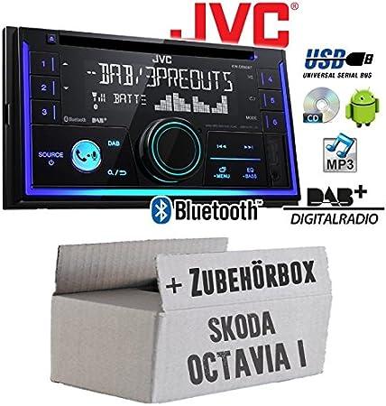 1996-12//2009 JVC 2-din CD//Bluetooth auto radioset para Skoda Octavia 1 1u