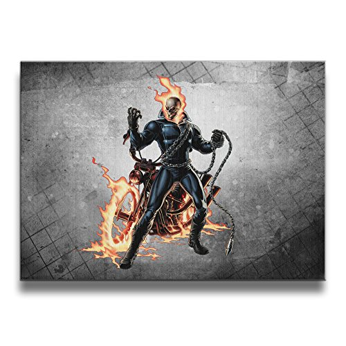 [Bekey Ghost Rider Art Photo For Home Office Decorations Wall Decor For Living Room&bedroom] (Dr Strange Modern Costume)