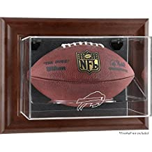 Buffalo Bills Football Display Case - Brown - Fanatics Authentic Certified - Football Logo Display Cases
