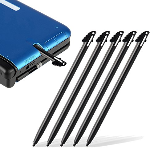 Everydaysource Compatible With Nintendo 3DS XL 5-Piece Black Stylus (Best Lip Lock Ever)