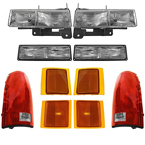 Headlights Parking Corner Lights & Taillights Kit Set of 10 for Chevy C/K Blazer