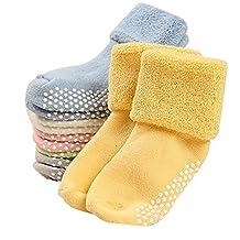 Yodosun 6 Pairs Cute Baby Toddler Boys Girls Anti Slip Skid Socks