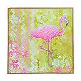 Deny Designs Madart Inc.,  Flamingo Dance, Framed Wall Art, Large, 30'' x 30''