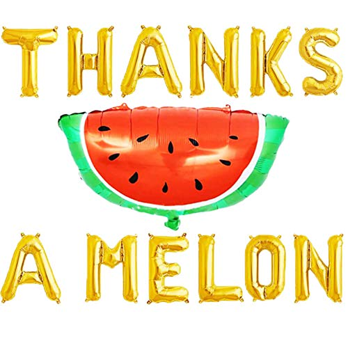 Thanks a Melon Balloons, One in a Melon Balloons Watermelon Summer Fruit Theme Birthday Banner Party Supplies Decorations