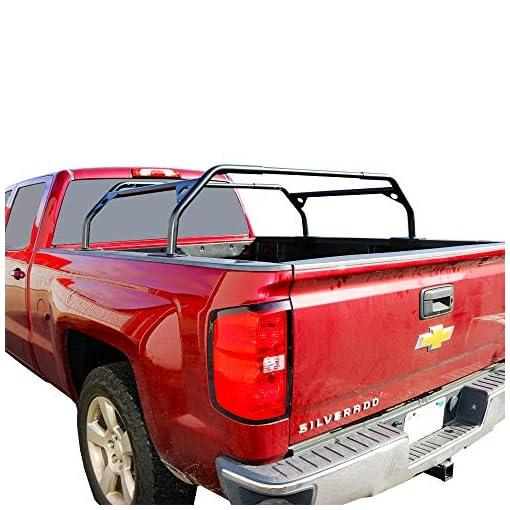 Tuff-Stuff-Rooftop-Tent-Truck-Bed-Rack-Adjustable-Powder-Coated-Black-40