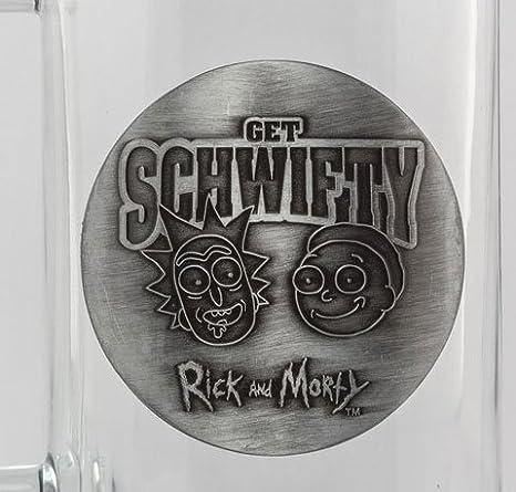 500 ml Glas Bierglas Bierkrug Fanartikel Get Schwifty Rick and Morty ca