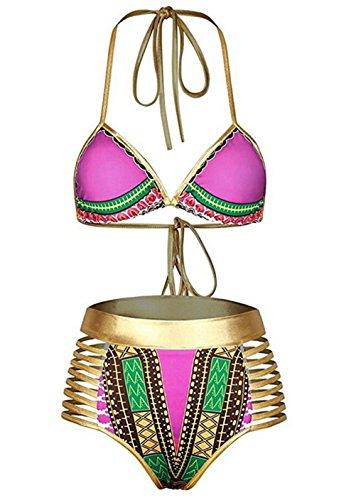 Sundray Womens African Metallic Swimsuit