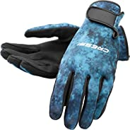 Cressi Camouflage 2mm Elastic Neoprene Spearfishing Gloves   Hunter Series   Quality Since 1946