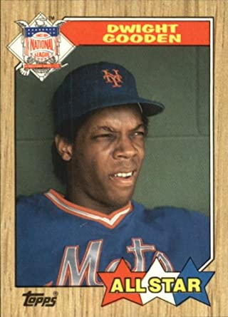 Amazoncom 1987 Topps Tiffany Baseball Card 603 Dwight Gooden Mint