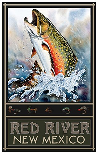 Red River New Mexico Brook Trout Travel Art Print Poster by Dave Bartholet (12