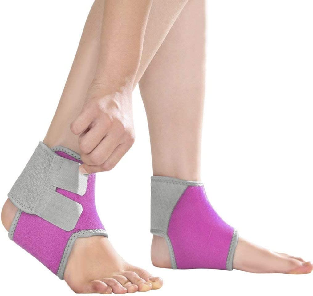 2 Pack Kids Child Adjustable Nonslip Ankle Tendon Compression Brace Sports Dance Foot Support Stabilizer Wraps Protector Guard for Injury Prevention & Protection for Sprains, Sore or Weak Ankles: Industrial & Scientific