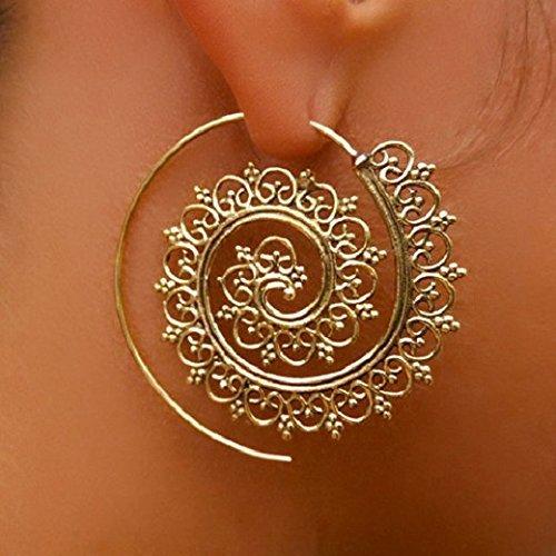 brass-earrings-brass-spiral-earrings-tribal-earrings-gypsy-earrings-ethnic-earrings-brass-jewelry