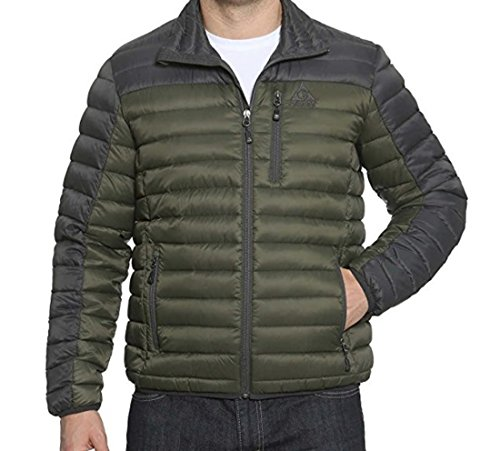 Gerry Men's Replay Packable Down Jacket (Green, Medium)