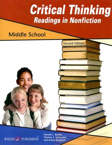 Critical Thinking for Readings in Nonfiction for Middle School, Grade 5-8 Critical Reading Fiction