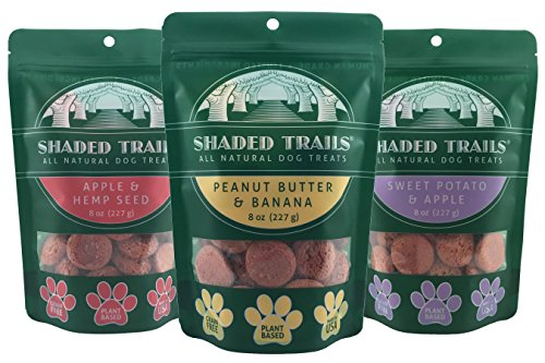 Cheap Shaded Trails All Natural Crunchy Dog Treats Variety 3 Pack – Vegan & Grain Free